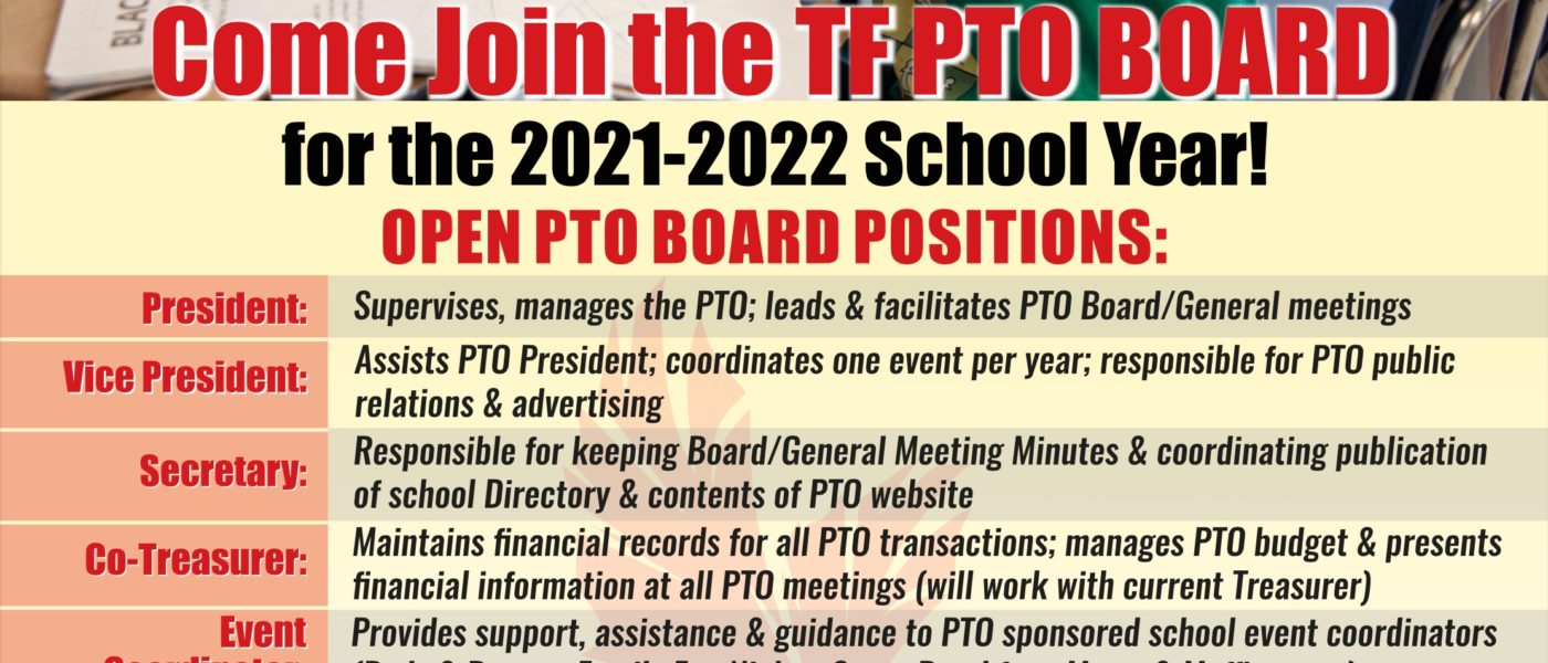 Come Join the Totem Falls PTO Board