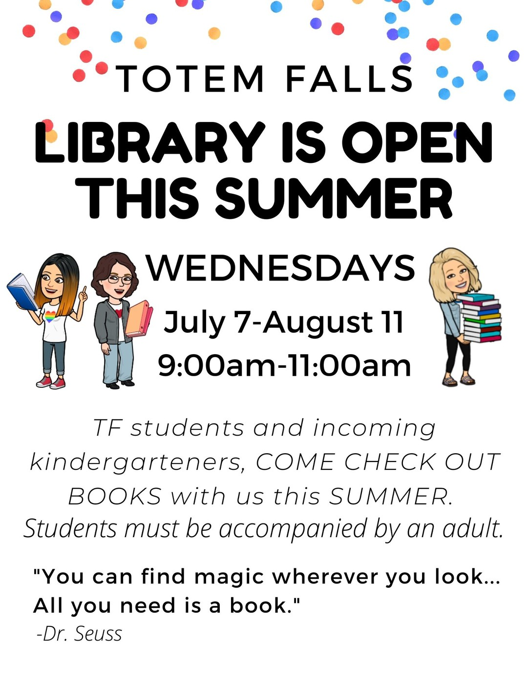 TF Library Open this Summer