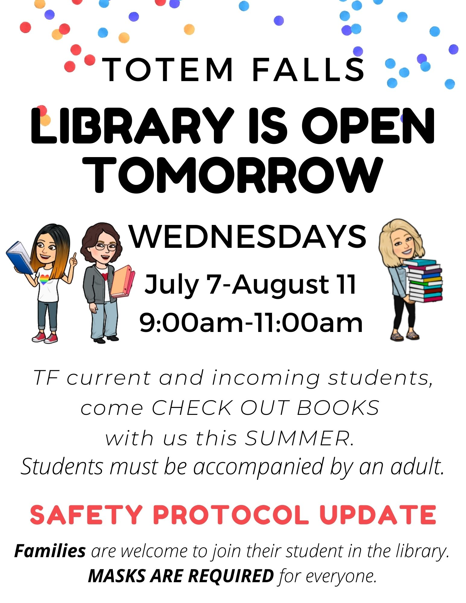 Library is Open Tomorrow